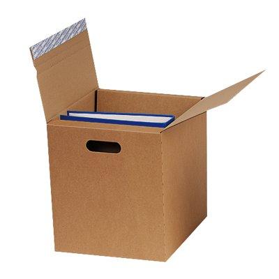Boîte d'expédition pour classeurs, brun, avec fermeture autocollante