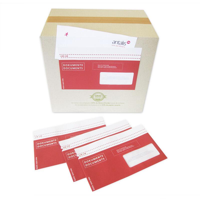 Dokumententasche aus Papier bedruckt (postfkonform)