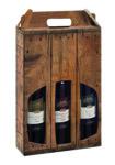 Trageverpackung für Wein Rustikal - Premium